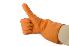 резина руки перчатки Стоковая Фотография