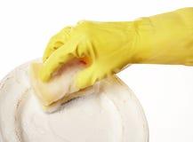 резина руки 13 перчаток Стоковая Фотография
