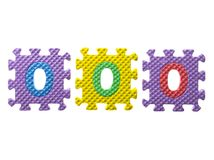 Резиновая головоломка с 0 Стоковая Фотография RF