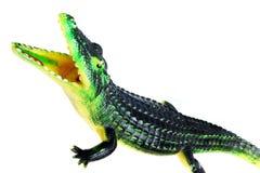 Резиновая игрушка крокодила изолированная на белизне Стоковое Изображение