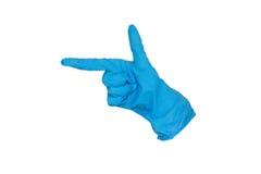 Резиновая перчатка формируя оружие Стоковая Фотография