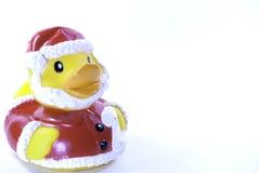 Резиновая утка Санта Клауса Стоковое Фото