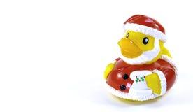 Резиновая утка Санта Клауса Стоковые Изображения RF