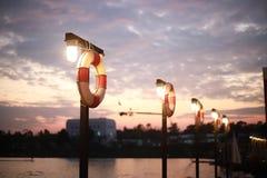 Резиновое кольцо поплавка в спортивном центре водных видов спорта стоковое изображение rf