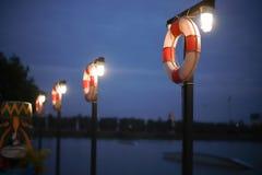 Резиновое кольцо поплавка в спортивном центре водных видов спорта Стоковая Фотография RF