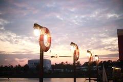 Резиновое кольцо поплавка в спортивном центре водных видов спорта Стоковое фото RF