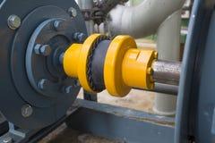 Резиновое соединение во время мотора и насоса Стоковое Изображение RF