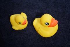 Резиновое Ducky и полотенце Стоковые Изображения