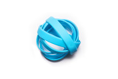 Резиновые браслеты Носка браслета моды силикона круглая социальная Белая предпосылка Стоковое фото RF