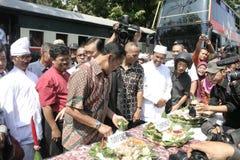 Резиденты благодарения на избрании президента Индонезии Joko Widodo стоковая фотография rf