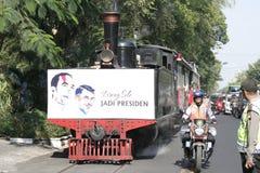 Резиденты благодарения на избрании президента Индонезии Joko Widodo стоковое изображение