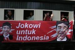 Резиденты благодарения на избрании президента Индонезии Joko Widodo стоковые изображения rf