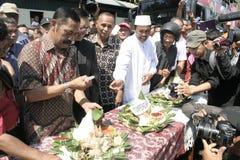 Резиденты благодарения на избрании президента Индонезии Joko Widodo стоковое фото