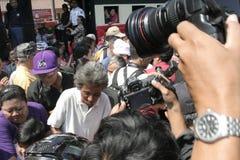 Резиденты благодарения на избрании президента Индонезии Joko Widodo стоковые изображения