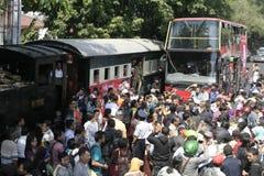Резиденты благодарения на избрании президента Индонезии Joko Widodo стоковое фото rf