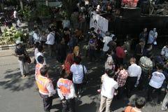 Резиденты благодарения на избрании президента Индонезии Joko Widodo стоковые фотографии rf