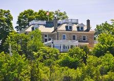 Резиденция Оттава посола Соединенных Штатов, Канада стоковые изображения rf