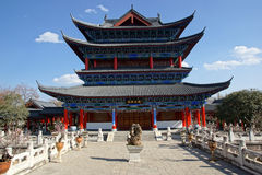 Резиденция Mu в городке Lijiang старом, Юньнань, Китае стоковые фотографии rf