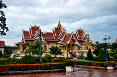Резиденция Pha которая Luang, Лаос стоковое фото