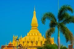 Резиденция PHA которая Luang Luang Prabang, большое stupa, буддийское stupa Лаос vientiane Стоковые Фото