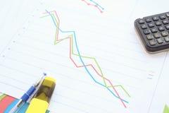 Резкое падение в данных по диаграммы Стоковое Изображение