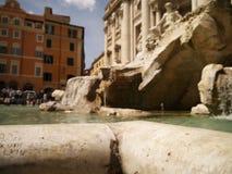 Резное изображение в фонтане Trevi Стоковое Изображение RF