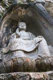 Резное изображение камня Feilai Feng, Lingyin Temple Стоковая Фотография RF