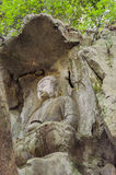 Резное изображение камня Feilai Feng, Lingyin Temple Стоковые Изображения RF