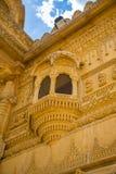 Резное изображение красивое крупного плана экстерьера индусского виска Стоковые Изображения RF