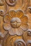 Резное изображение на древесине teak Стоковое Изображение