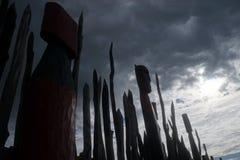 Резное изображение Новой Зеландии маорийское Стоковые Фотографии RF
