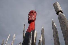 Резное изображение 8 Новой Зеландии маорийское Стоковое Изображение