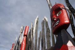 Резное изображение 6 Новой Зеландии маорийское Стоковое фото RF