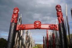 Резное изображение 6 Новой Зеландии старое маорийское Стоковое фото RF