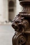 Резное изображение льва Стоковые Изображения