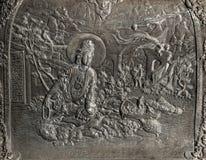 Резное изображение Guanyin Стоковые Фото