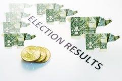 Результаты выборов стоковое изображение rf