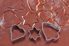 Резцы и тесто печенья металла для пряника Стоковое Изображение RF