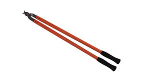 Резцы кабеля, инструмент конструкции на белизне Стоковое Изображение