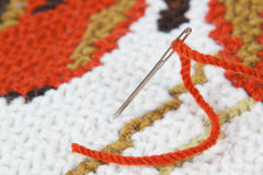 резьба иглы вышивки Стоковая Фотография RF