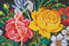 резьба роз иглы Стоковая Фотография