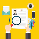 Резюме CV Концепция собеседования для приема на работу Запись резюма Стоковые Изображения