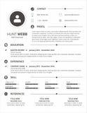 Резюме CV чистое Стоковое Изображение