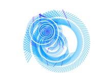 резюмируйте белизну свирли предпосылки голубую иллюстрация вектора