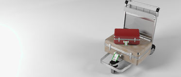 резюмируйте вагонетку багажа изображения авиапорта Стоковая Фотография RF