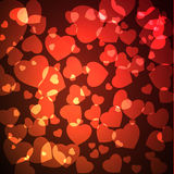 резюмируйте Валентайн сердца s Стоковая Фотография RF