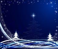 резюмируйте вектор иллюстрации рождества Стоковое Изображение RF