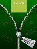 резюмируйте вектор карточки зеленый Стоковая Фотография