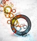 резюмируйте вектор кругов предпосылки grungy Стоковые Изображения RF