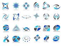 резюмируйте вектор логоса иконы конструкции установленный Стоковое Изображение